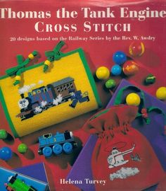 Thomas the Tank Engine: Cross Stitch: 20 Designs Based on the Railway Series: Over 25 cross stitch designs. Thomas And His Friends, Thomas The Tank, Book Crafts, Cross Stitch Designs, Cross Stitching, Holiday Crafts, Childrens Books, Engine, Projects To Try