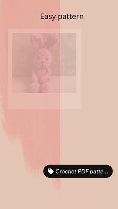 Crochet Toys Patterns, Pdf Patterns, Amigurumi Patterns, Amigurumi Toys, Crochet Ideas, Crochet Bunny, Crochet Animals, Plush Pattern, Bunny Plush