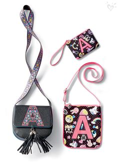 A+ style for your crossbody and wristlet! Go for pretty print or get emoji-nal—whatever fits your mood!