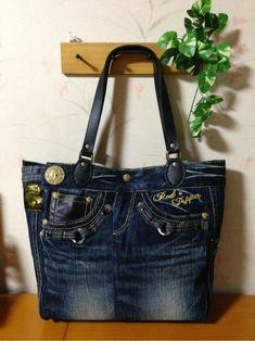 カッコいいジーンズからトートバッグ、完成~(^O^)/ - yukidarumaのハンドメイド日記