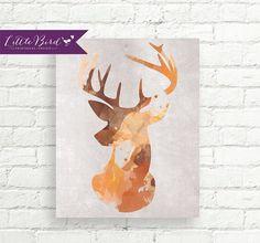 8x10 Art Print PRINTABLE Orange Water by LittleBirdPrintables