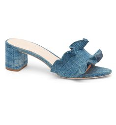 Ruffled Slide Sandal
