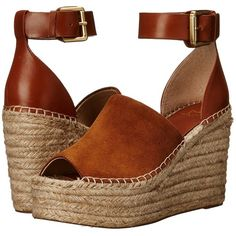 Marc Fisher LTD Adalyn Women's Wedge Shoes ($160) ❤ liked on Polyvore featuring shoes, sandals, suede sandals, platform espadrilles, platform shoes, suede wedge sandals and espadrilles shoes