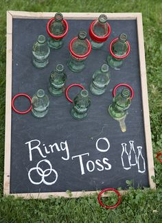 Wedding lawn games, ring toss More