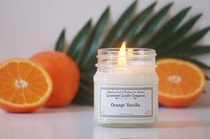 Orange Vanilla Soy Candle // Mason Jar Candle // Candle Gift // Natural Candle // Scented Candle // Citrus Candle // Orange Candle by LynwoodCandleCompany on Etsy https://www.etsy.com/listing/463799463/orange-vanilla-soy-candle-mason-jar