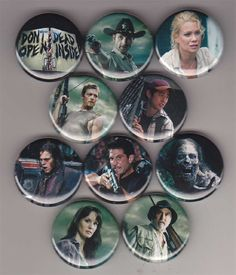 Love this set of 10 'The Walking Dead' buttons. Fun seeing some of these old cast members!