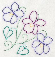 Machine Embroidery Designs at Embroidery Library! - New This Week Paper Embroidery, Rose Embroidery, Hand Embroidery Patterns, Vintage Embroidery, Embroidery Applique, Machine Embroidery Designs, Embroidery Stitches, Simple Flower Embroidery Designs, Flower Patterns