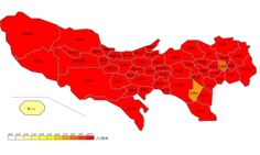 インフルエンザ保健所別患者報告数地図
