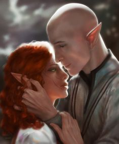 """princessbatteringram: """" The lovely and wonderful did this for my birthday (in a very short time limit, as I found out) and I'm still choking up about it. I may or may not have shed actual tears. I'm absolutely thrilled. Dragon Age Inquisition Solas, Dragon Age Solas, The Inquisition, Dragon Age 2, Dragon Age Origins, Dragon Age Romance, Dragon Age Characters, Funny Romance, Big Dragon"""