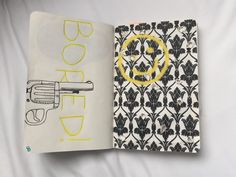 "Wreck This Journal by Keri Smith. This page was the ""Poke holes using a pencil"". I decided to do a Sherlock theme :)"