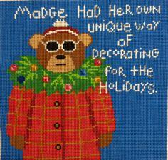Love Madge! needlepoint bear canvas