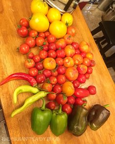 A few maters & peppers are today's pickings ❤️🍅🌶❤️ #ULBBackYardHarvests