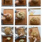 pull apart bread collage