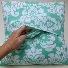 How To Make An Envelope Pillow - Back side