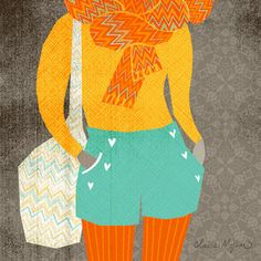 fall fashion illustration | Claire Mojher from delineation and illumination