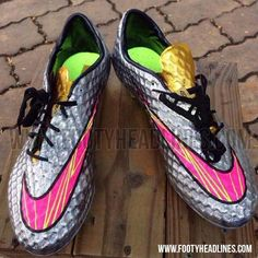 nike hypervenom silver and pink women | The outsole of the new silver Nike Hypervenom Phantom Neymar 2014-2015 ...