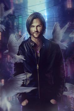 Jared Padalecki as Sam Winchester Supernatural Fans, Supernatural Drawings, Jared Padalecki Supernatural, Supernatural Pictures, Supernatural Wallpaper, Supernatural Poster, Winchester Boys, Winchester Brothers, Misha Collins