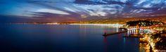 https://flic.kr/p/qZvuH2 | Nice, Baie des Anges | Prise le 03 avril 2015 La trainée à gauche est le phare d'un avion sur le point de se poser