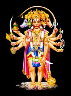 Panchamukha Hanuman Homa is unique as it invokes five forms of Hanuman that represent powerful temples of India. Hanuman Photos, Hanuman Images, Krishna Pictures, Hanuman Jayanthi, Durga, Hanuman Ji Wallpapers, Rama Image, Lord Shiva Family, Hindu Deities