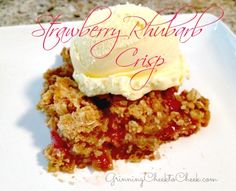 Strawberry Rhubarb Crisp - Ahhmaaahhhzinnggg!!! Just as delicious as the pie - but Half the work!