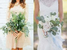 Eucalyptus bouquets for weddings in 2016    Wedding bouquets are still going heavy on the greenery—specifically beautiful seeded eucalyptus. #2016wedding