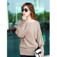 Women's Cable Cape Sleeve Fashion Sweater – USD $ 39.99