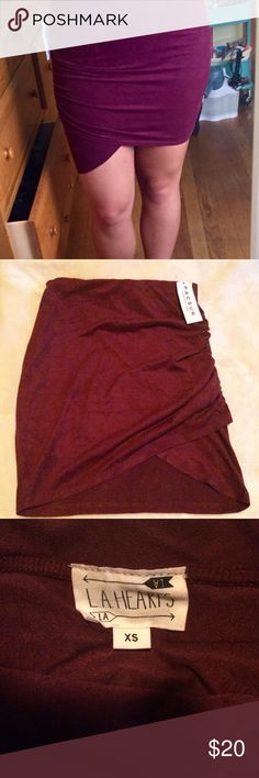 NWT xs faux suede mini skirt NWT xs faux suede mini skirt LA Hearts Skirts