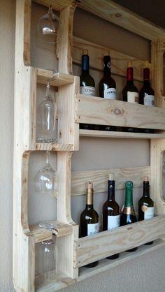 Best Ideas for bathroom cabinets diy pallets Wooden Pallet Projects, Wood Pallet Furniture, Wooden Pallets, Diy Furniture, Pallet Ideas, Diy Projects, Bar Pallet, Pallet Wine, Palette Deco