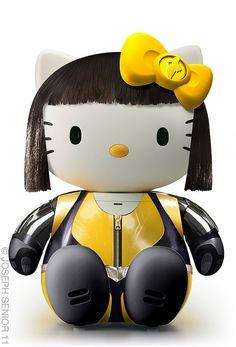 Silk Spectre II Hello Kitty by Joseph Senor Hello Kitty Art, Hello Kitty Items, Kitty Kitty, Little Twin Stars, Sanrio, Captain America, Keroppi, Hello Kitty Imagenes, Kitty
