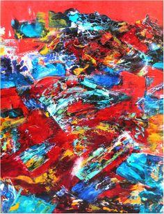 Le temps qui passe peinture art abstrait technique for Peinture glycero ou acrylique