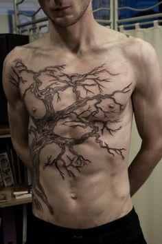 Tree branches tattoo
