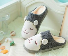 - Lovely sheep house slippers - Keep your feet warm and cozy in these cuties - Made from cotton - Available in 7 colors