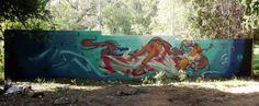 Graffiti: Mural painted by artists Gerso & X83 in villa de Bravo in Mexico. © Gerso