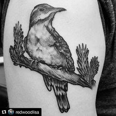 "54 Likes, 4 Comments - Redwood Tattoo Co (@redwoodtattooco) on Instagram: ""Twin peaks tattoo for ya #femalevariedthrush #twinpeaks #twinpeakstattoo #californiatattoo…"""