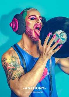 These Men And Their Glitter Beards Will Challenge How You Think About Gender Drag Queen Makeup, Drag Makeup, Male Makeup, Full Face Makeup, Clown Makeup, Makeup Art, Glitter Beards, Glitter Hair, Black Glitter