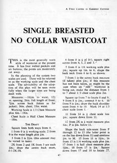 Waistcoat Cutting - The Trouser and Waistcoat Forum - The Cutter and Tailor