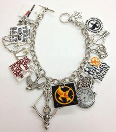 Hunger Games Charm Bracelet  D by KarinaMadeThis on Etsy, $17.00