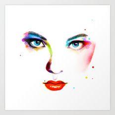 Art Print featuring Eyes by Hajin  Bae