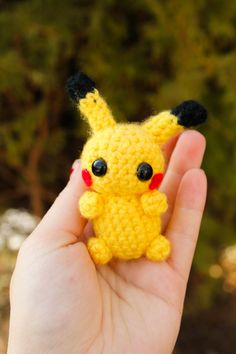 Pikachu Amigurumi Plush and Pokeball Inspired by Pokemon on Etsy, $16.50