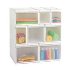 """WANT WANT WANT!! Choose from three widths (narrow, medium, wide) and two heights (short and tall). Combine them vertically or horizontally to organize any area of your home - you can even add wheels! These drawers also coordinate with our <a href=""""/shop/storage/likeItModularStorageSystem?productId=10027799"""">Like-it® Modular Bins</a> and our <a href=""""/shop/storage/likeItModularStorageSystem?productId=10027801"""">Like-it® Short Narrow Basket</a>."""