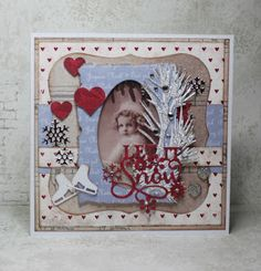 Lenas kort: La det snø Doodles, Frame, Blog, Christmas, Cards, Home Decor, Picture Frame, Xmas, Decoration Home