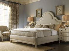 The Twilight Bay collection displays an interpretation of French and American styling. It offers three unique finishes: Antique Linen, Chestnut and Driftwood.    Casual, but elegant upholstery features French Laundry styling, with washed linen, slipcovers and decorative nail head trim.    The designs within Twilight Bay span two cultures to create a blending of great individual pieces whose continuity is assured through the artful combination of three unique and sophisticated finishes.