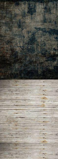 S119 Dark Grunge Vintage Scratched Shabby Plank Switchover Backdrop