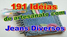 191 Idéias de artesanato com jeans diversos
