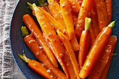 Tuscan Glazed Carrots recipe - a simple side dish for the big feast.