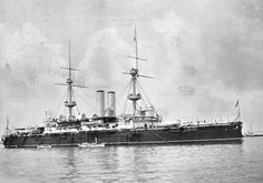 HMS Empress of India was a pre-dreadnought battleship of the Royal Navy and part of the eight-ship Royal Sovereign class. She was laid down at Pembroke Dockyard on 9 July 1889 and launched by the Duchess of Connaught on 7 May 1891. Initially known as HMS Renown, her name was changed before completion at Chatham on 11 September 1893. She served as the flagship of the second-in-command of the Channel Fleet. She was sunk as a target ship on 4 November 1913 in Lyme Bay.