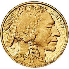 2013 American Buffalo 1 Ounce Gold Indian Head