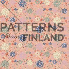 Kukkavaasi by Kahandi Design   #patternsfromagency #patternsfromfinland #pattern #patterndesign #surfacedesign #kahandidesign