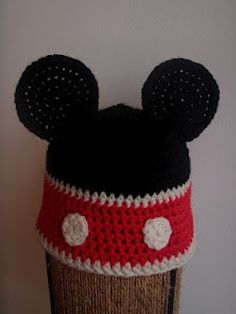 mickey mouse crochet hat lindsays note please msg me if you can crochet this