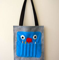 Crayon Monster Art Tote Tutorial | Go To Sew